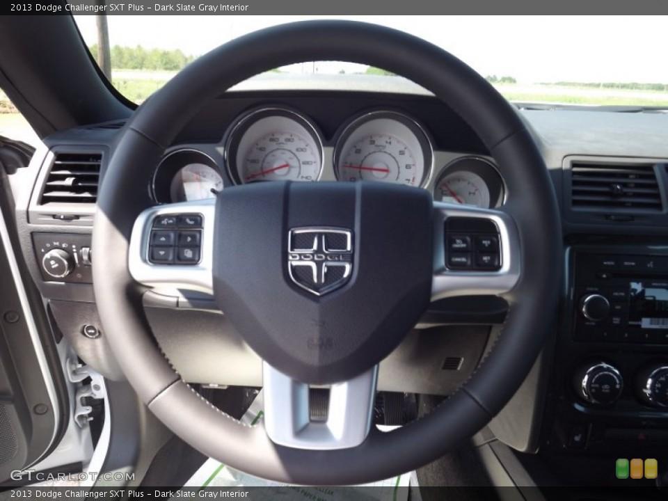 Dark Slate Gray Interior Steering Wheel for the 2013 Dodge Challenger SXT Plus #70975513