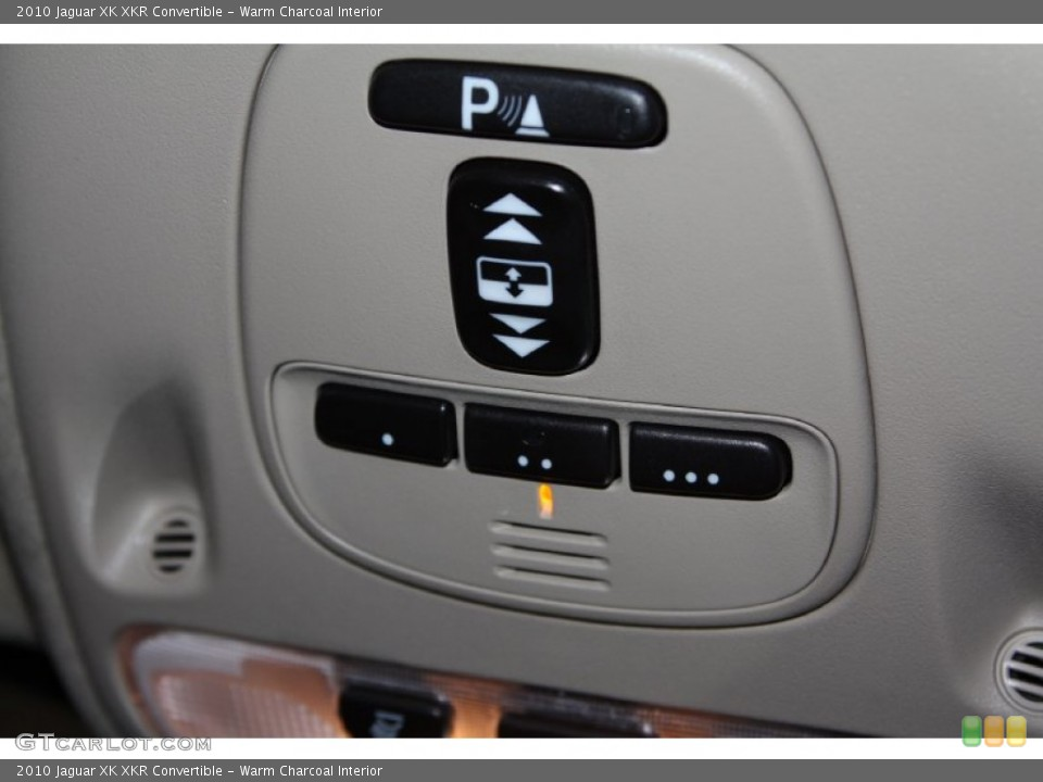 Warm Charcoal Interior Controls for the 2010 Jaguar XK XKR Convertible #71082121