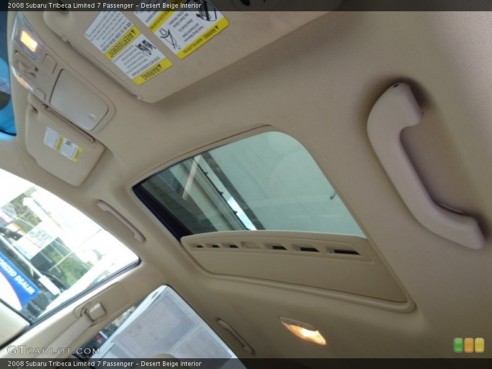 Desert Beige Interior Sunroof for the 2008 Subaru Tribeca Limited 7 Passenger #71136324