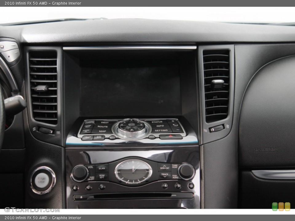 Graphite Interior Controls for the 2010 Infiniti FX 50 AWD #71214406