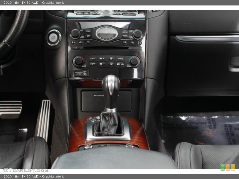 Graphite Interior Controls for the 2010 Infiniti FX 50 AWD #71214417