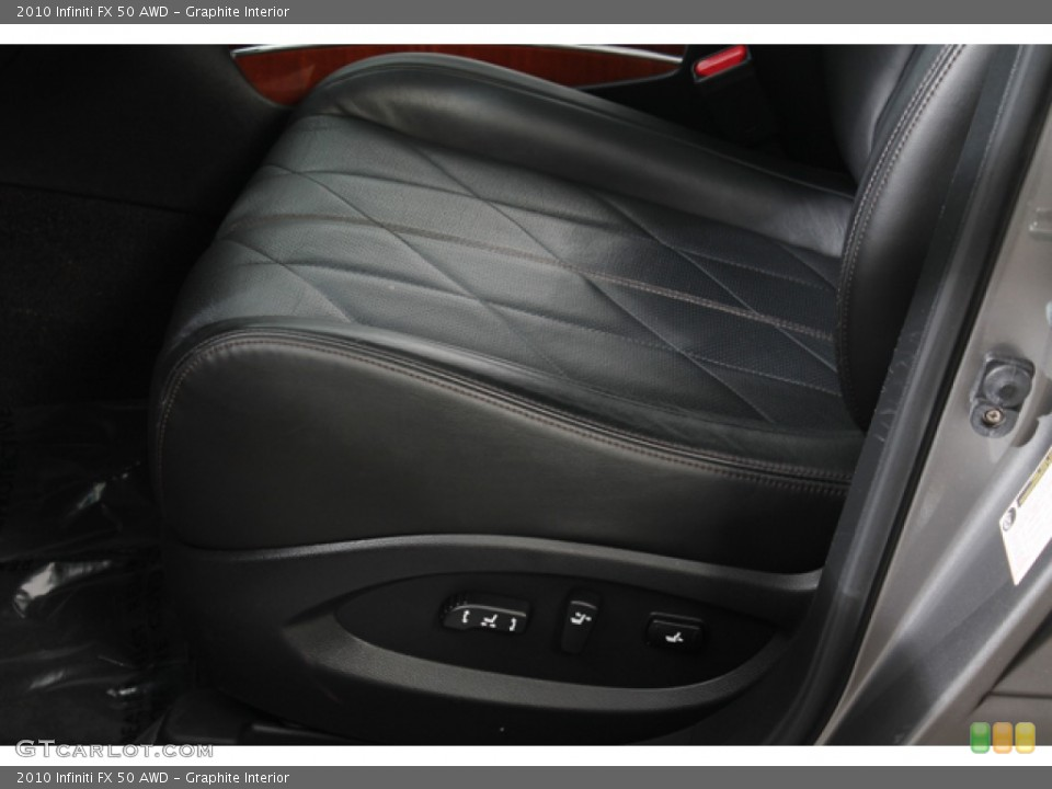Graphite Interior Front Seat for the 2010 Infiniti FX 50 AWD #71214505