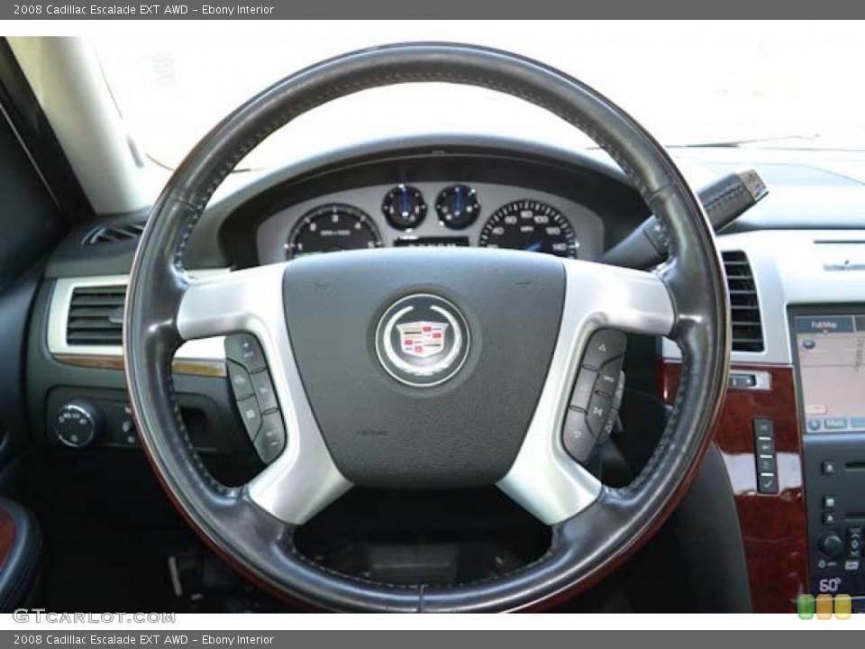 Ebony Interior Steering Wheel for the 2008 Cadillac Escalade EXT AWD #71252982