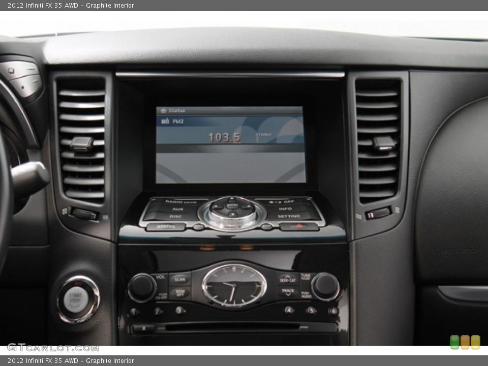 Graphite Interior Controls for the 2012 Infiniti FX 35 AWD #71368655