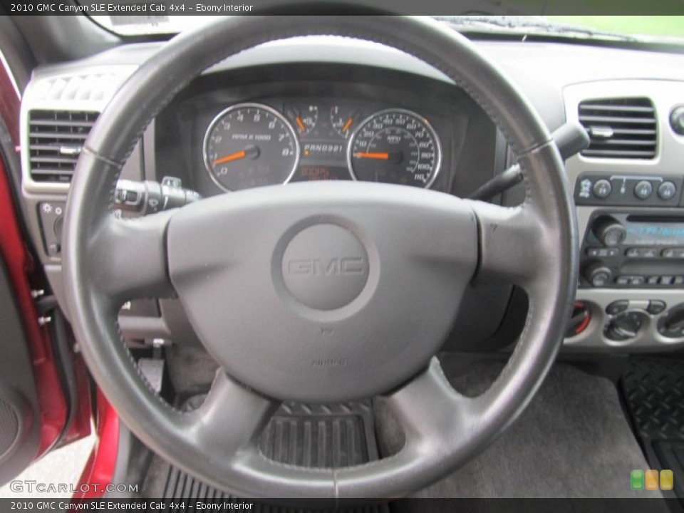 Ebony Interior Steering Wheel for the 2010 GMC Canyon SLE Extended Cab 4x4 #71569078
