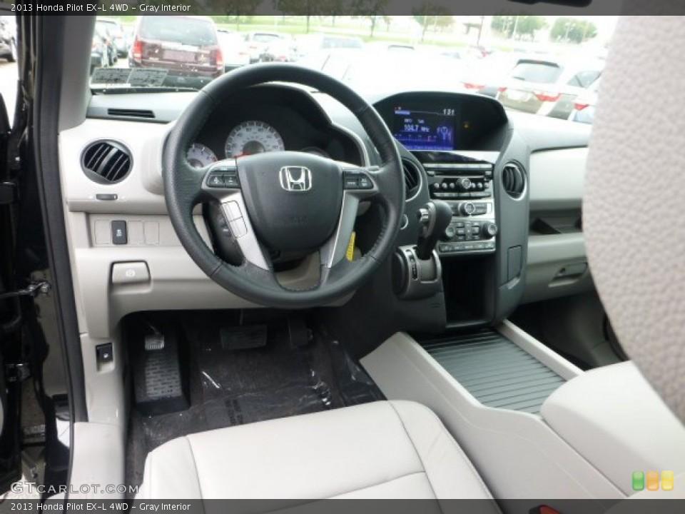 Gray Interior Photo for the 2013 Honda Pilot EX-L 4WD #71594481