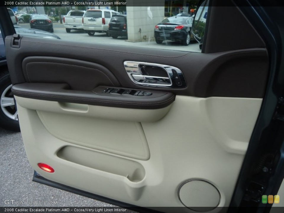 Cocoa/Very Light Linen Interior Door Panel for the 2008 Cadillac Escalade Platinum AWD #71603205