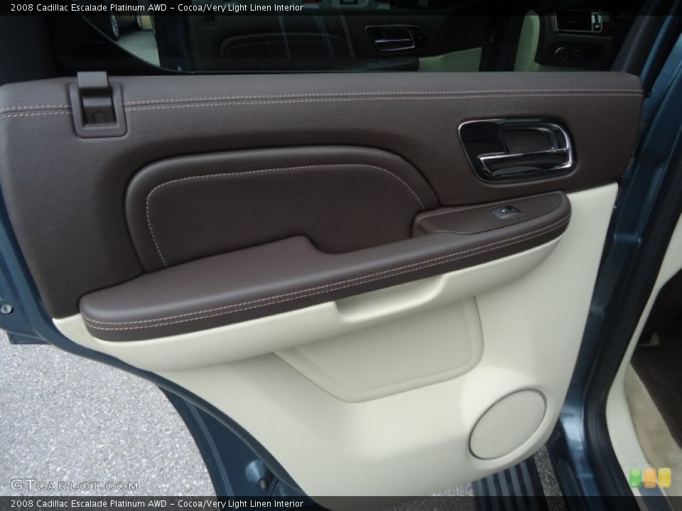 Cocoa/Very Light Linen Interior Door Panel for the 2008 Cadillac Escalade Platinum AWD #71603214
