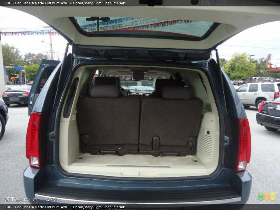 Cocoa/Very Light Linen Interior Trunk for the 2008 Cadillac Escalade Platinum AWD #71603232