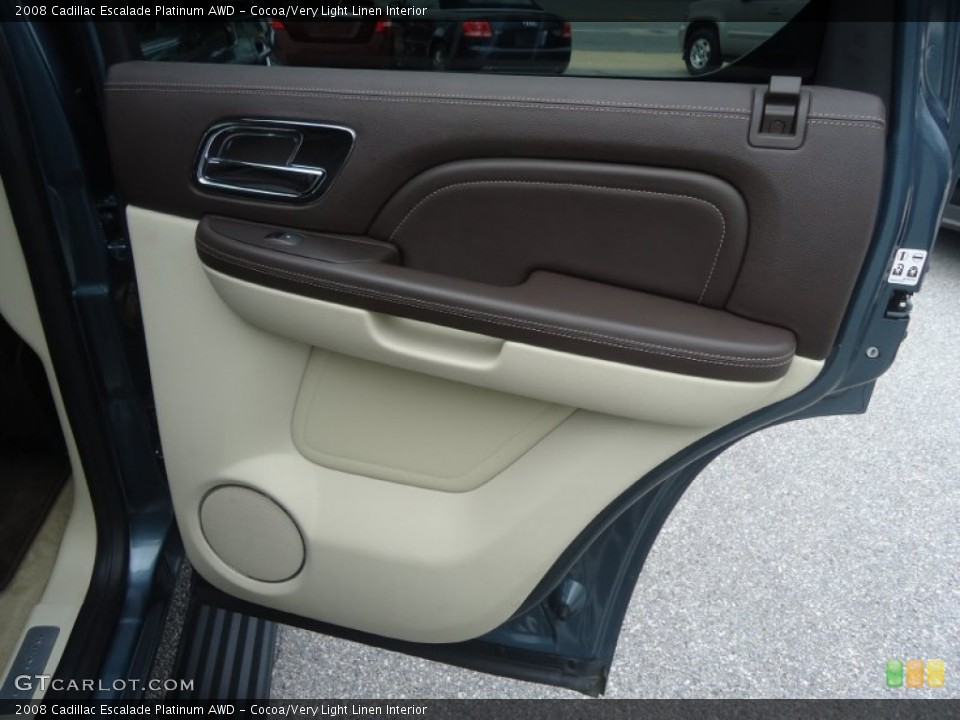 Cocoa/Very Light Linen Interior Door Panel for the 2008 Cadillac Escalade Platinum AWD #71603241