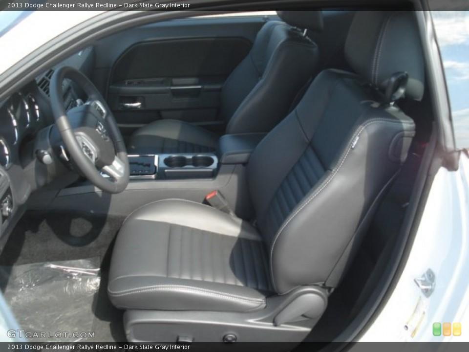 Dark Slate Gray Interior Front Seat for the 2013 Dodge Challenger Rallye Redline #71748708