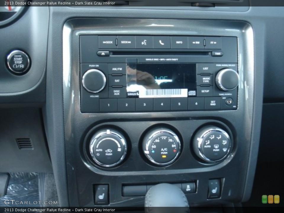 Dark Slate Gray Interior Controls for the 2013 Dodge Challenger Rallye Redline #71748748
