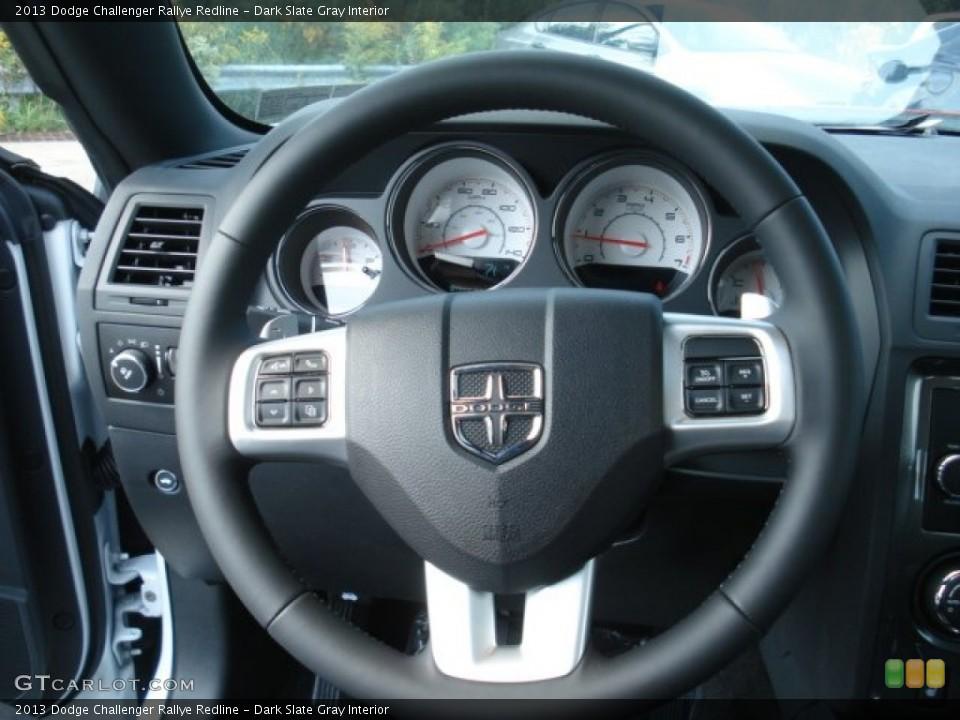 Dark Slate Gray Interior Steering Wheel for the 2013 Dodge Challenger Rallye Redline #71748765