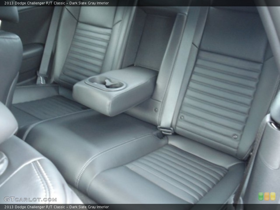 Dark Slate Gray Interior Rear Seat for the 2013 Dodge Challenger R/T Classic #71748894