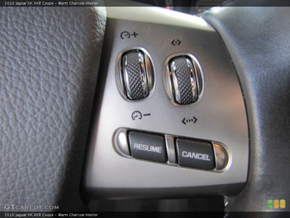Warm Charcoal Interior Controls for the 2010 Jaguar XK XKR Coupe #71801175