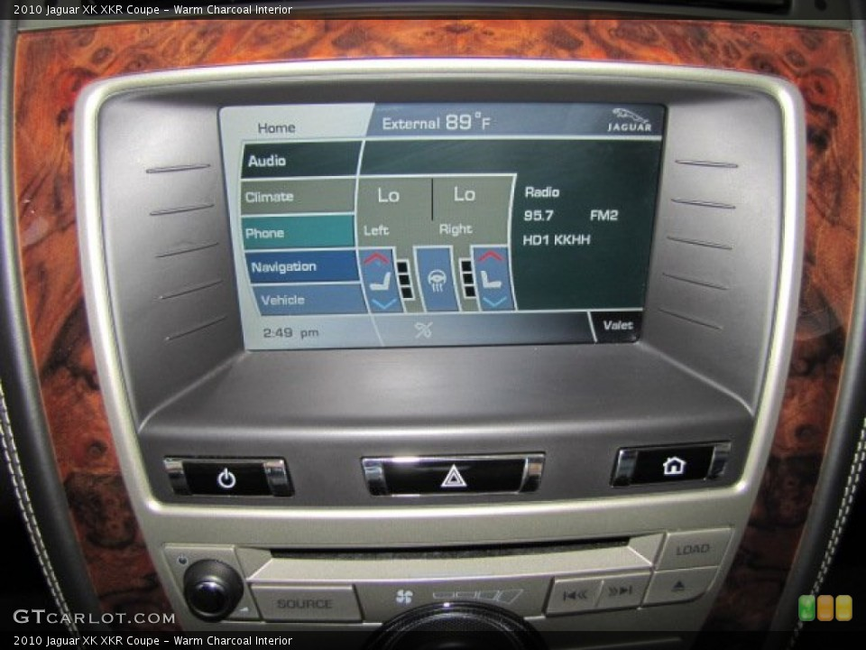 Warm Charcoal Interior Controls for the 2010 Jaguar XK XKR Coupe #71801202