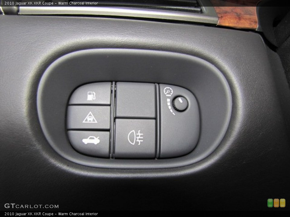 Warm Charcoal Interior Controls for the 2010 Jaguar XK XKR Coupe #71801292
