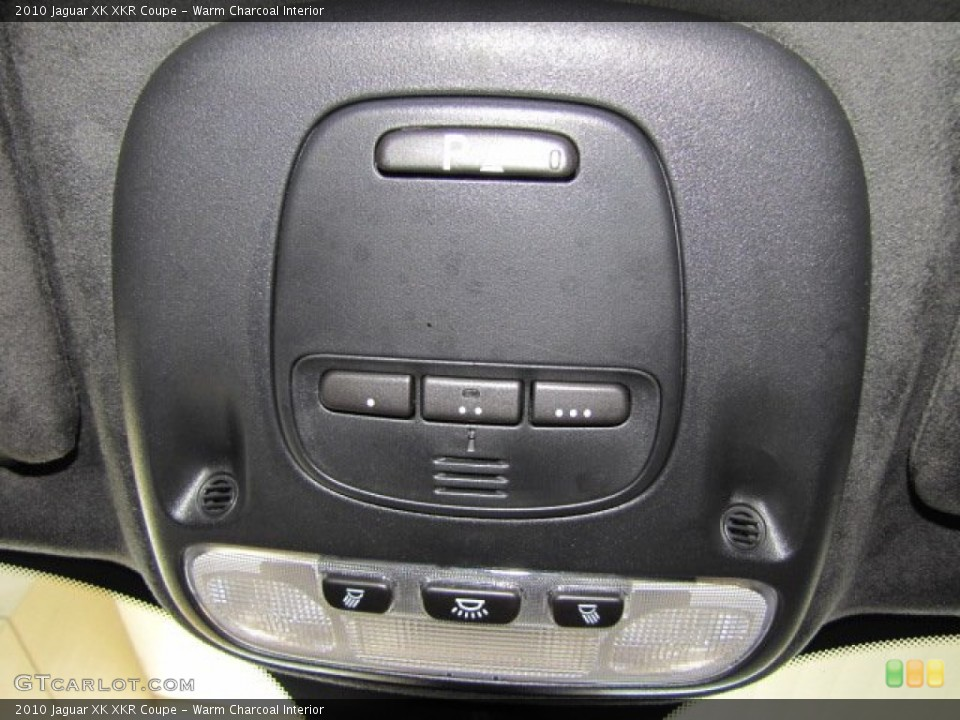 Warm Charcoal Interior Controls for the 2010 Jaguar XK XKR Coupe #71801301