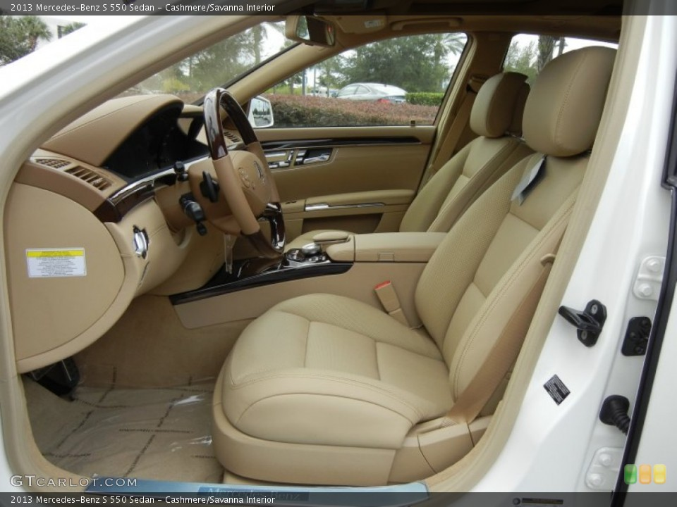 Cashmere/Savanna 2013 Mercedes-Benz S Interiors