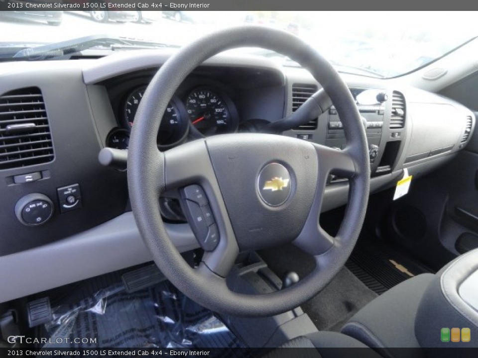 Ebony Interior Steering Wheel for the 2013 Chevrolet Silverado 1500 LS Extended Cab 4x4 #71906898