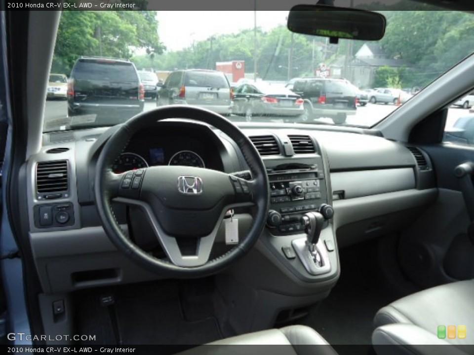 Gray Interior Dashboard for the 2010 Honda CR-V EX-L AWD #71921385
