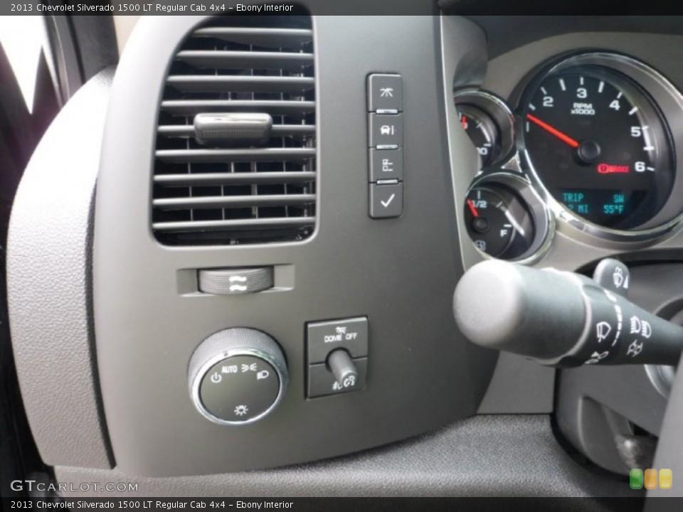 Ebony Interior Controls for the 2013 Chevrolet Silverado 1500 LT Regular Cab 4x4 #71929380