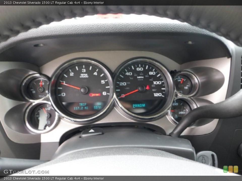Ebony Interior Gauges for the 2013 Chevrolet Silverado 1500 LT Regular Cab 4x4 #71929467