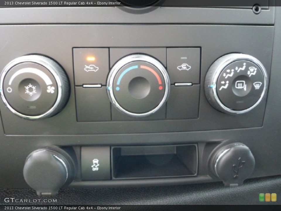 Ebony Interior Controls for the 2013 Chevrolet Silverado 1500 LT Regular Cab 4x4 #71929547