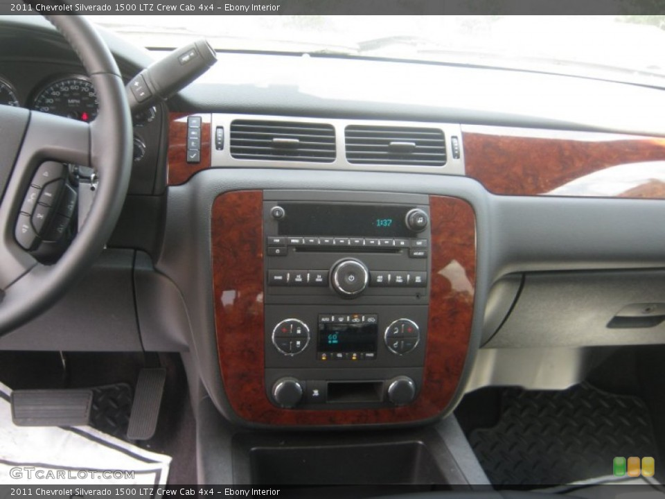 Ebony Interior Controls for the 2011 Chevrolet Silverado 1500 LTZ Crew Cab 4x4 #72076177