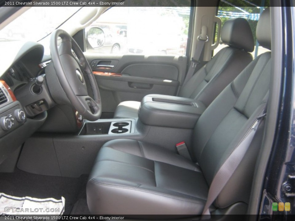 Ebony Interior Photo for the 2011 Chevrolet Silverado 1500 LTZ Crew Cab 4x4 #72076306