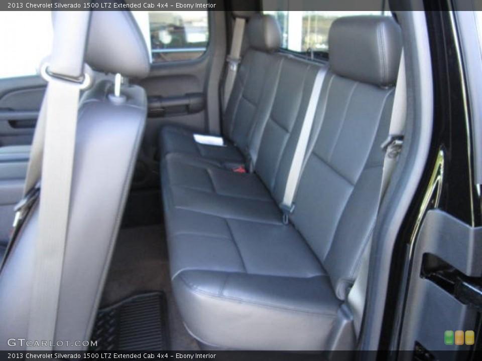 Ebony Interior Rear Seat for the 2013 Chevrolet Silverado 1500 LTZ Extended Cab 4x4 #72139929