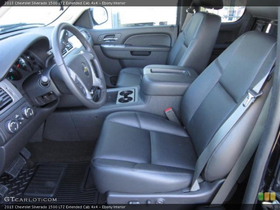 Ebony Interior Front Seat for the 2013 Chevrolet Silverado 1500 LTZ Extended Cab 4x4 #72139977