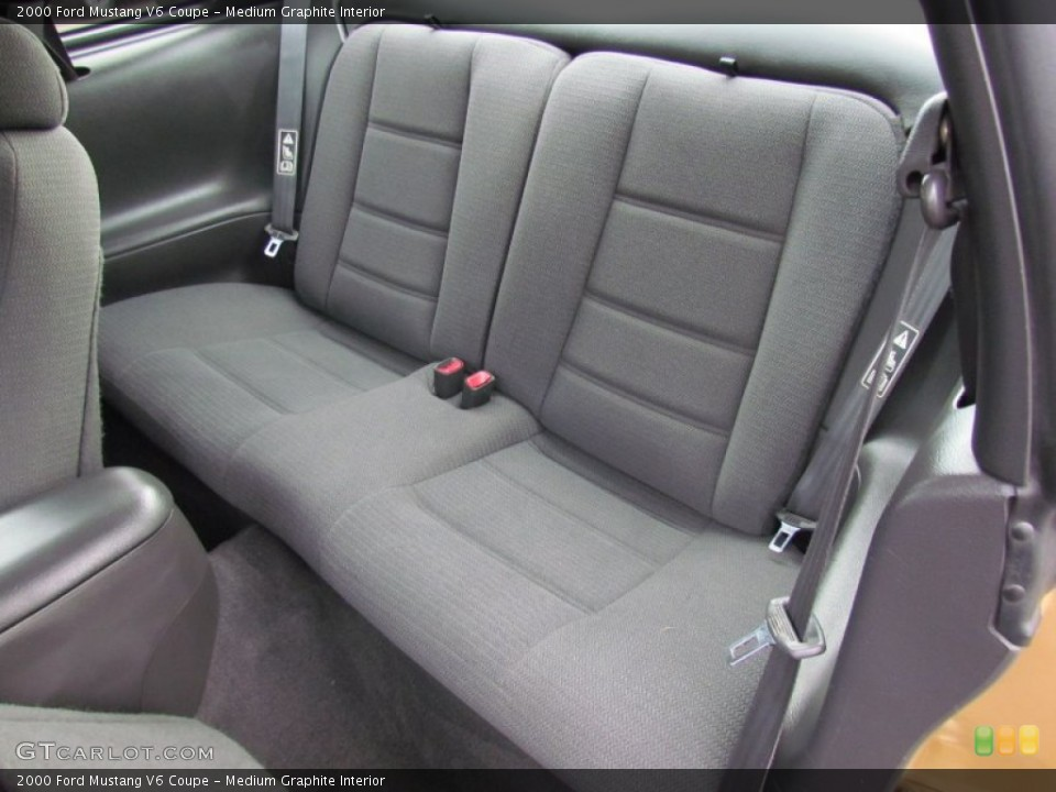 Medium Graphite Interior Rear Seat for the 2000 Ford Mustang V6 Coupe #72214109