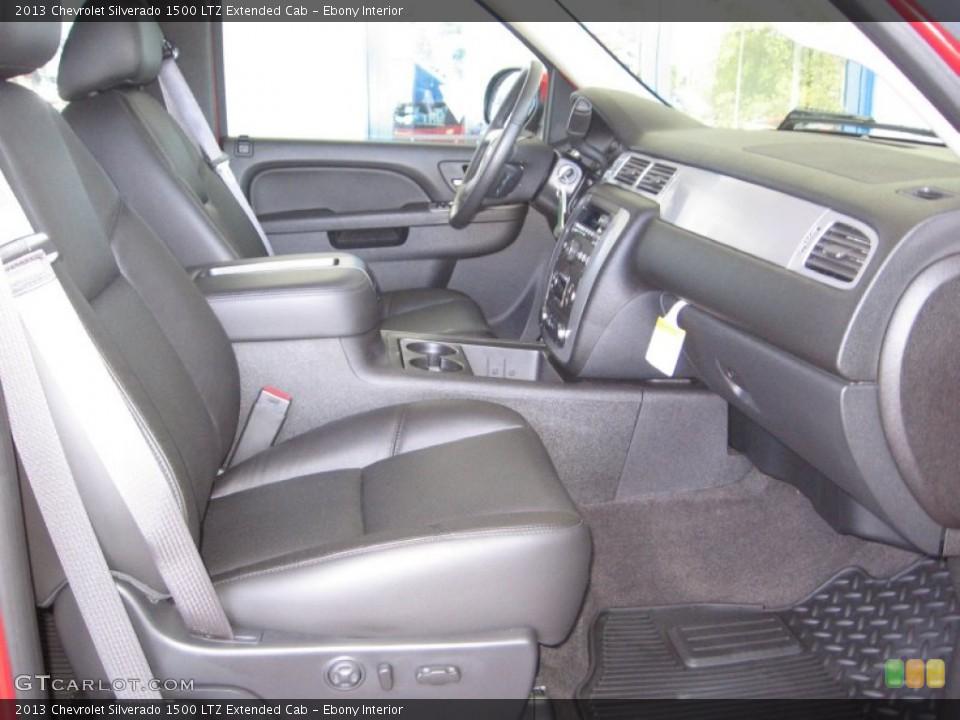 Ebony Interior Photo for the 2013 Chevrolet Silverado 1500 LTZ Extended Cab #72317542