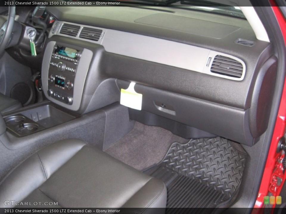 Ebony Interior Dashboard for the 2013 Chevrolet Silverado 1500 LTZ Extended Cab #72317584