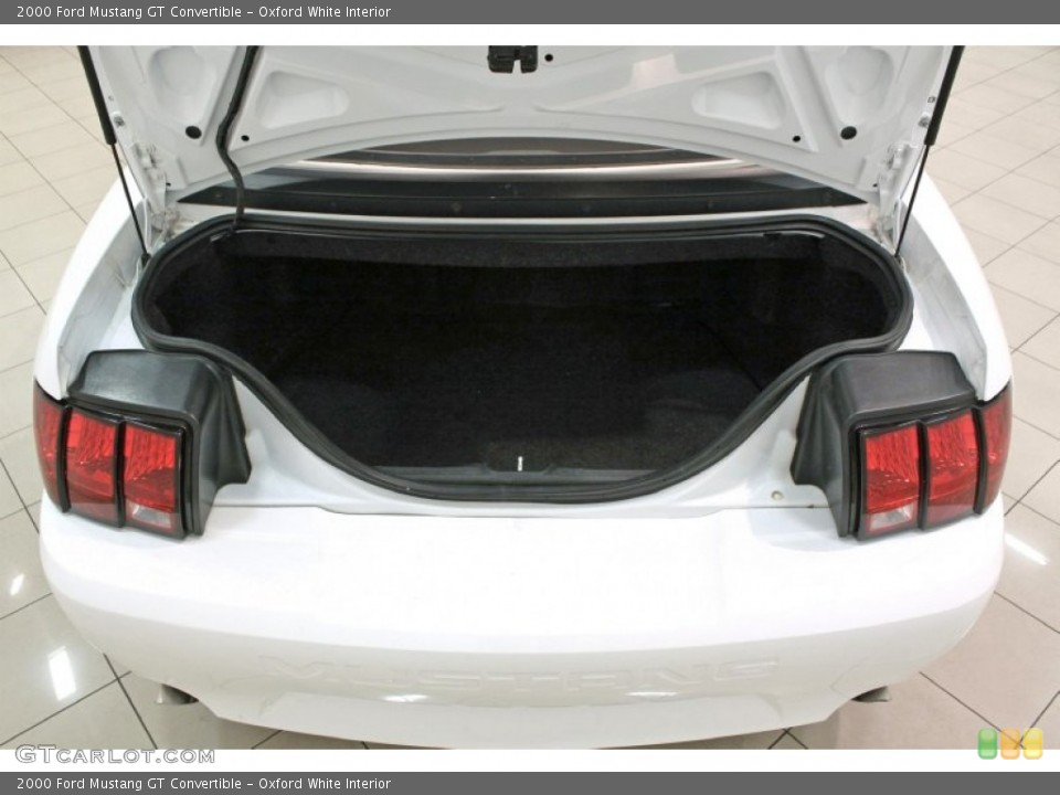 Oxford White Interior Trunk for the 2000 Ford Mustang GT Convertible #72410840