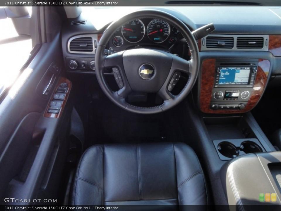 Ebony Interior Dashboard for the 2011 Chevrolet Silverado 1500 LTZ Crew Cab 4x4 #72417286