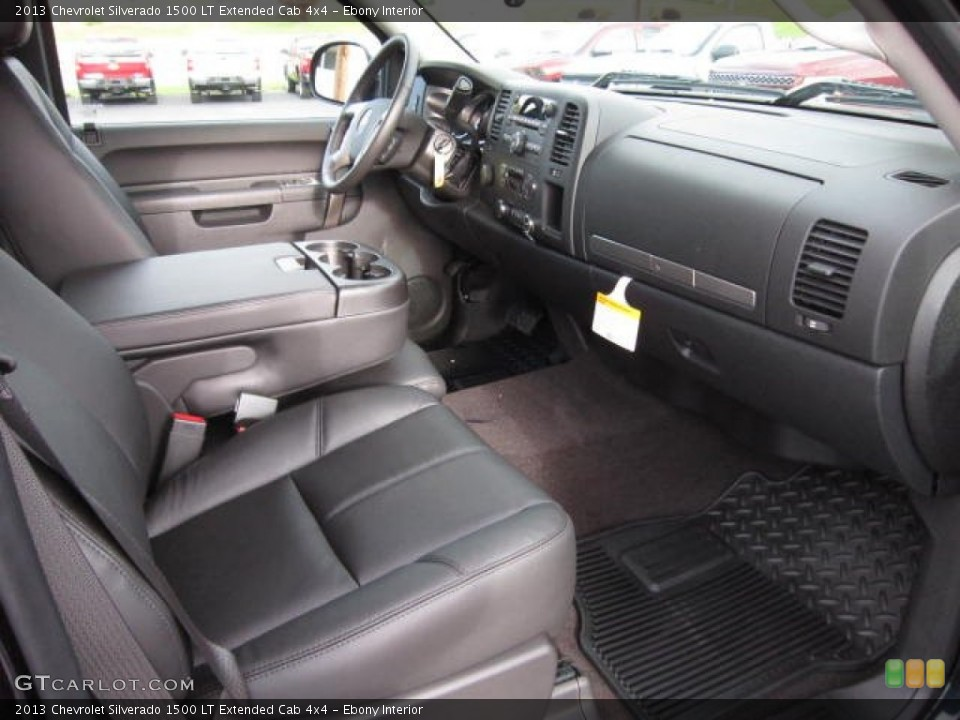 Ebony Interior Photo for the 2013 Chevrolet Silverado 1500 LT Extended Cab 4x4 #72423362