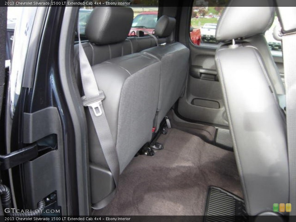 Ebony Interior Rear Seat for the 2013 Chevrolet Silverado 1500 LT Extended Cab 4x4 #72423413