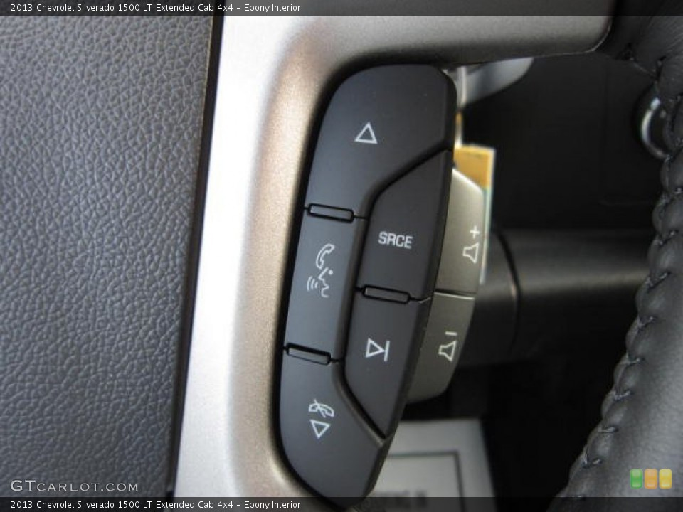 Ebony Interior Controls for the 2013 Chevrolet Silverado 1500 LT Extended Cab 4x4 #72423593