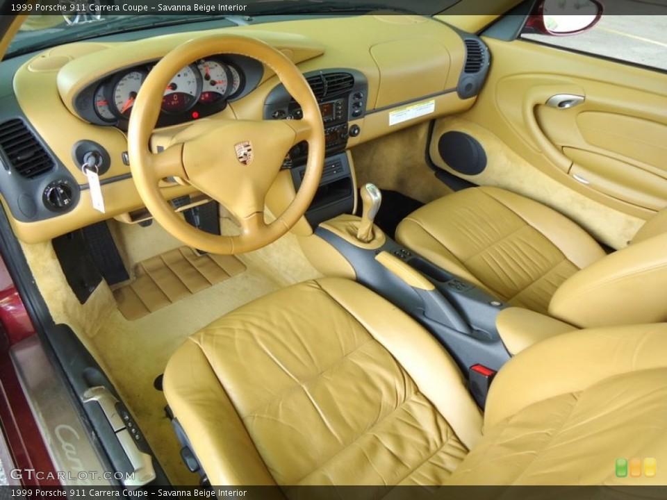 Savanna Beige 1999 Porsche 911 Interiors