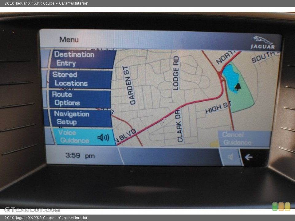 Caramel Interior Navigation for the 2010 Jaguar XK XKR Coupe #72463036