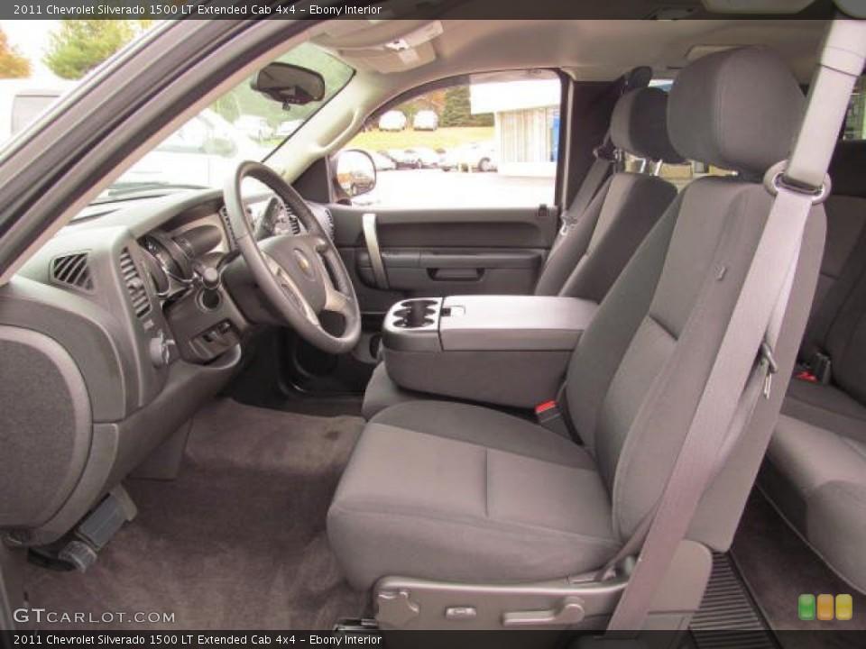 Ebony Interior Photo for the 2011 Chevrolet Silverado 1500 LT Extended Cab 4x4 #72648329