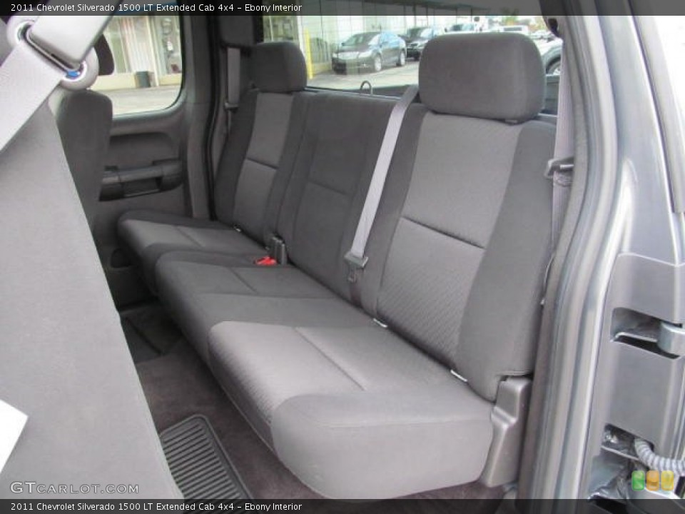 Ebony Interior Rear Seat for the 2011 Chevrolet Silverado 1500 LT Extended Cab 4x4 #72648344
