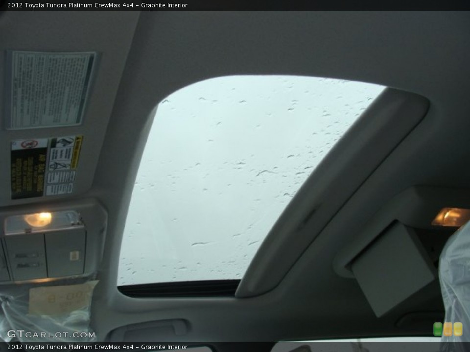 Graphite Interior Sunroof for the 2012 Toyota Tundra Platinum CrewMax 4x4 #72657697