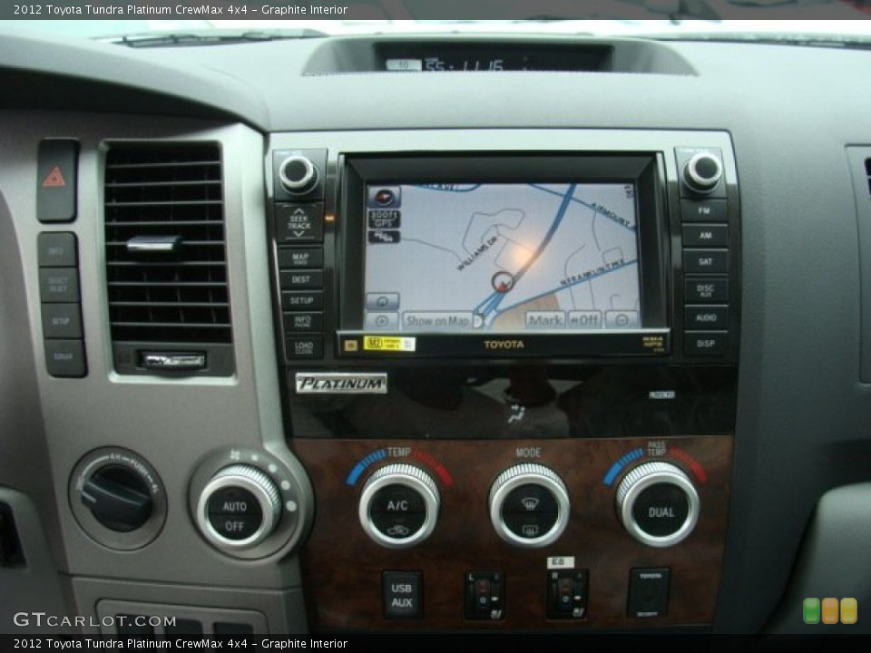 Graphite Interior Navigation for the 2012 Toyota Tundra Platinum CrewMax 4x4 #72657742