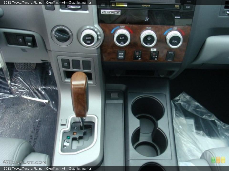 Graphite Interior Controls for the 2012 Toyota Tundra Platinum CrewMax 4x4 #72657760