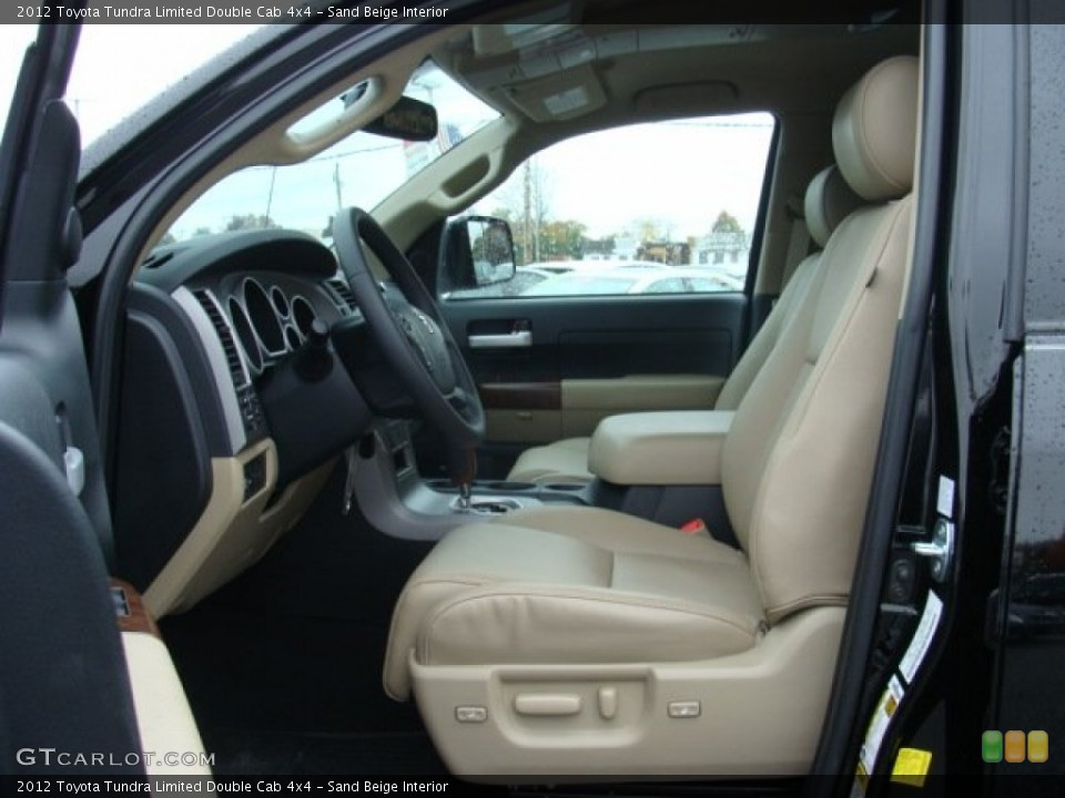 Sand Beige Interior Photo for the 2012 Toyota Tundra Limited Double Cab 4x4 #72657967