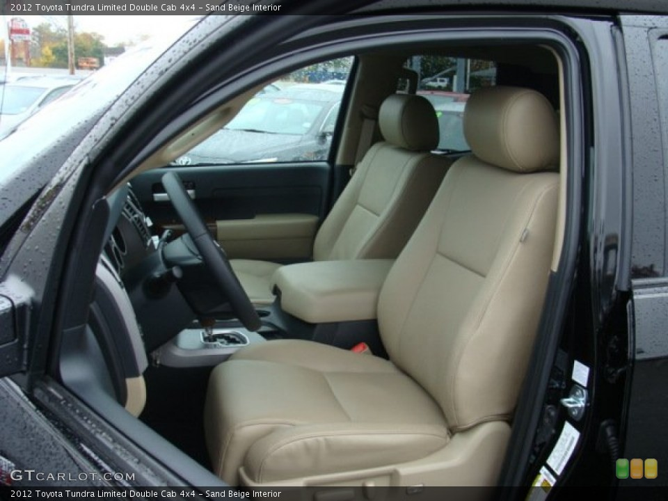 Sand Beige Interior Front Seat for the 2012 Toyota Tundra Limited Double Cab 4x4 #72658006