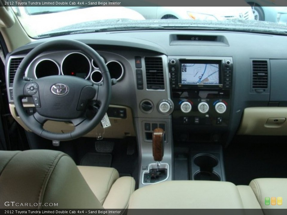 Sand Beige Interior Dashboard for the 2012 Toyota Tundra Limited Double Cab 4x4 #72658017
